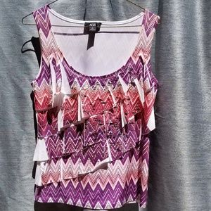 NEW AGB Small purple Pink Dimensional Blouse